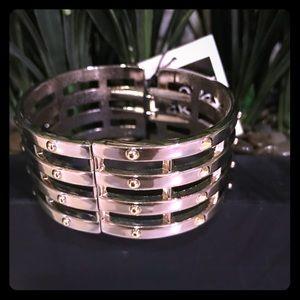 Beautiful studded clamp style bangle bracelet